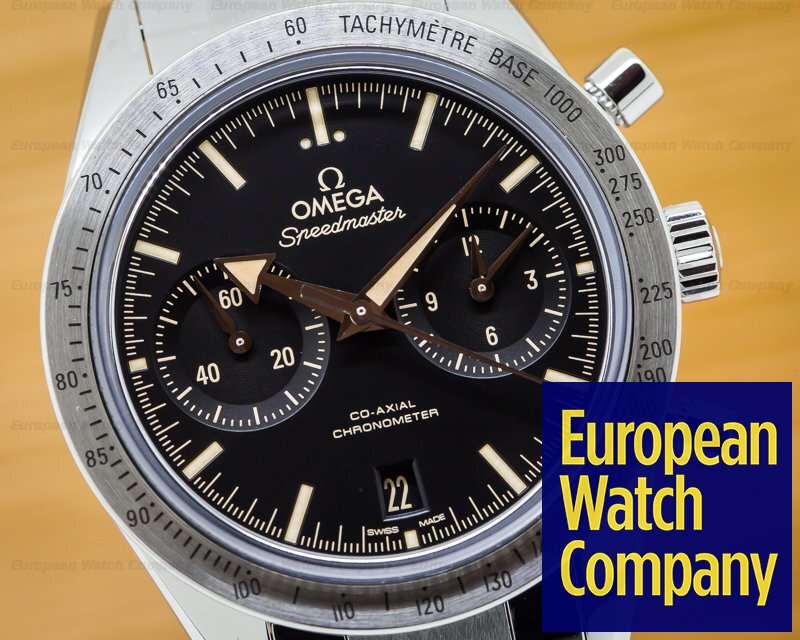 Omega 331.10.42.51.01.002 Speedmaster '57 Co-Axial SS / SS Black Dial