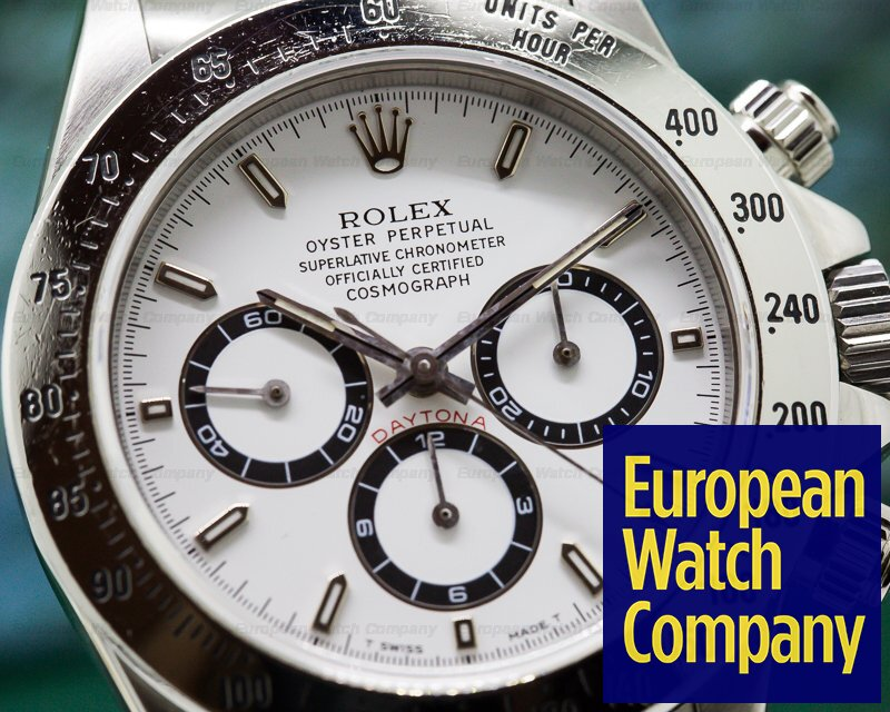 Rolex 16520 Daytona SS White Dial Zenith Movement T Series COMPLETE