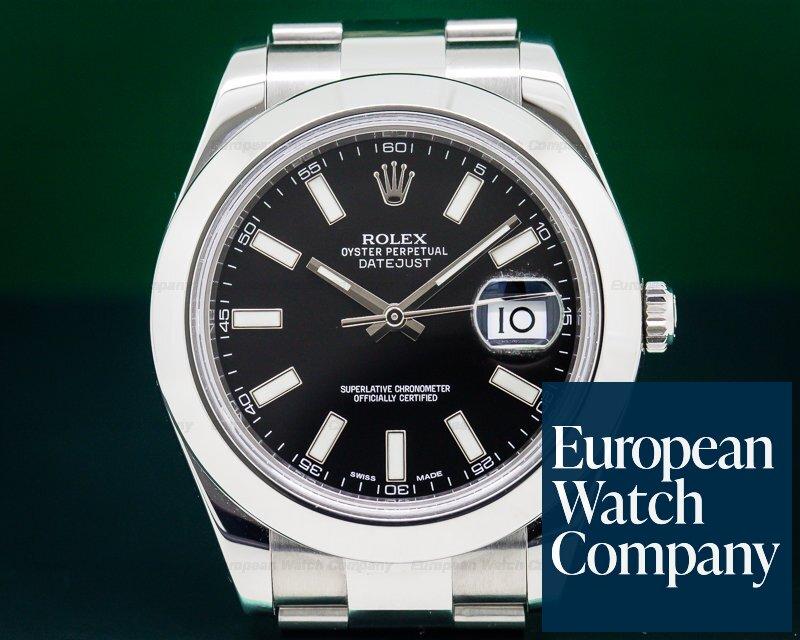 Rolex 116300 Datejust II SS Black Dial