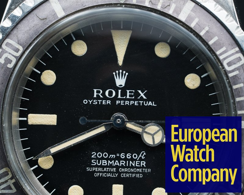 "Rolex 5512 Vintage Submariner ""METERS FIRST"" Matte Dial Ghost Bezel NICE"