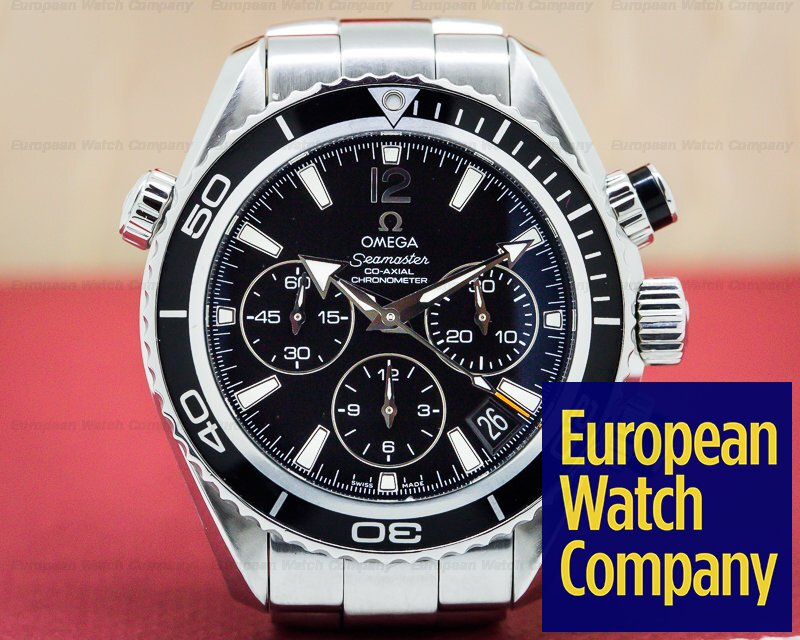 Omega 222.30.38.50.01.001 Seamaster Planet Ocean Co Axial Mid-Size Chronograph SS