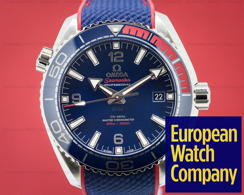 Omega 522.32.44.21.03.001 Seamaster Planet Ocean Co-Axial Blue Dial Pyeongchang 2018 Limited