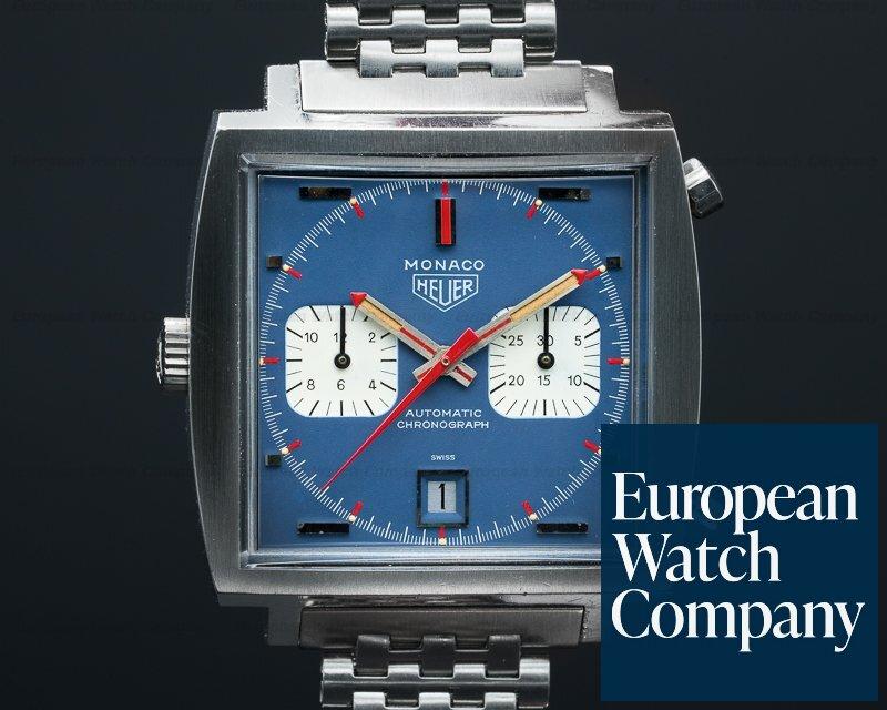 "Heuer 1133B Vintage Monaco ""Steve McQueen"" Blue Dial c. '69-'70 FANTASTIC"