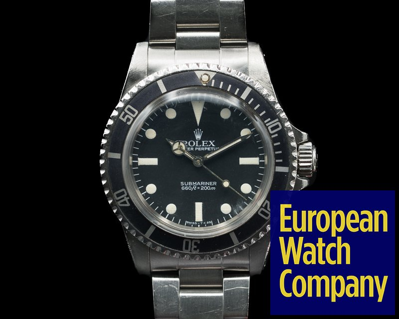 Rolex 5513 Vintage Maxi Matte Dial Submariner GREAT PATINA