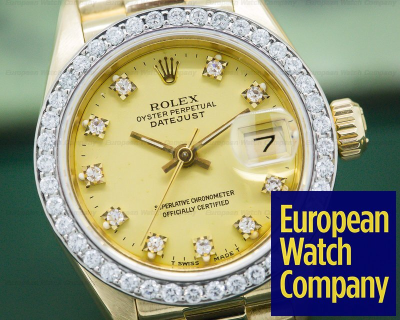 Rolex 69178 Datejust Yellow GOld President / Diamond Bezel