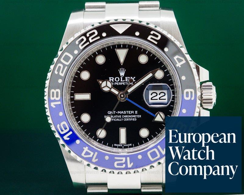 Rolex 116710BLNR BLNR GMT Master II Ceramic Black & Blue SS