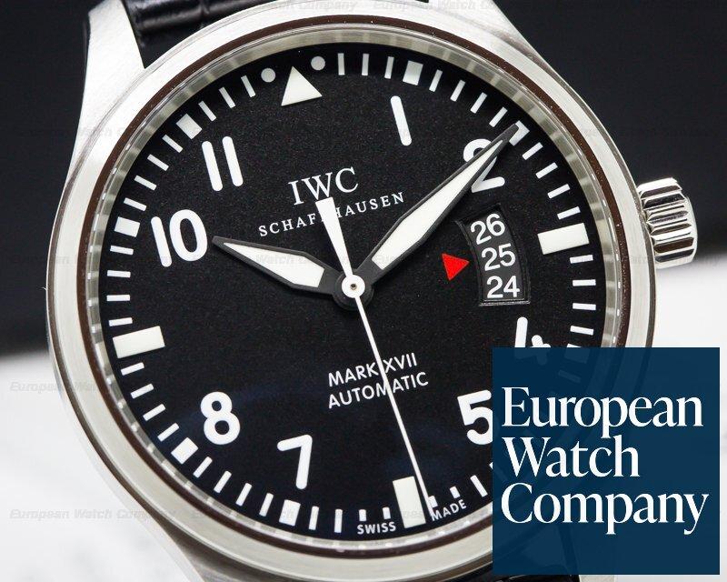 IWC IW326501 Mark XVII Black Dial SS / Alligator