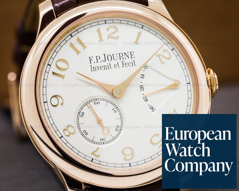 F. P. Journe Chronometre Souverain Red Gold / Silver Dial 40MM UNWORN