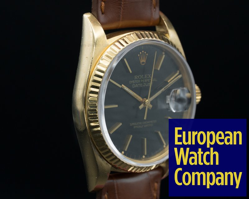 Rolex 16018 Datejust 18k Yellow Gold / Black Dial