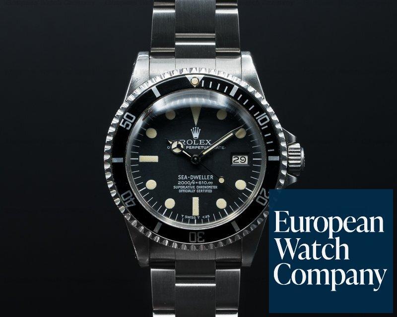 "Rolex 1665 Vintage Sea Dweller ""Rail Dial"" Circa 1979 NICE PATINA"
