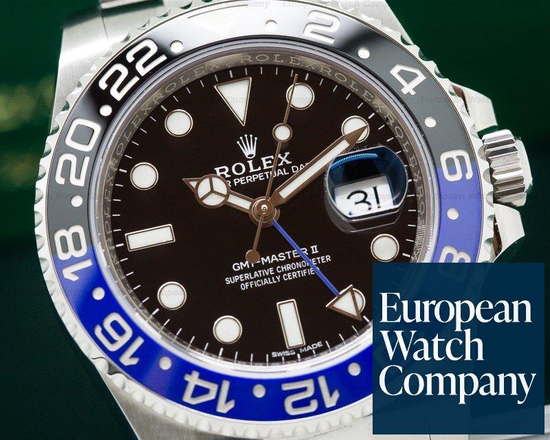 Rolex 116710BLNR BLNR GMT Master II Ceramic Black & Blue SS UNWORN