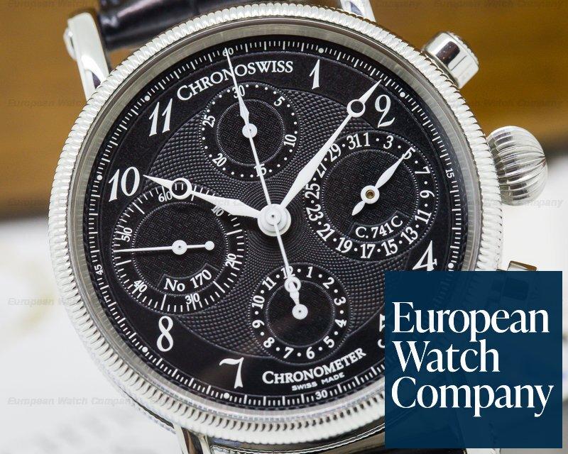 Chronoswiss CH7523CD Chronometer Chronograph SS Black Dial