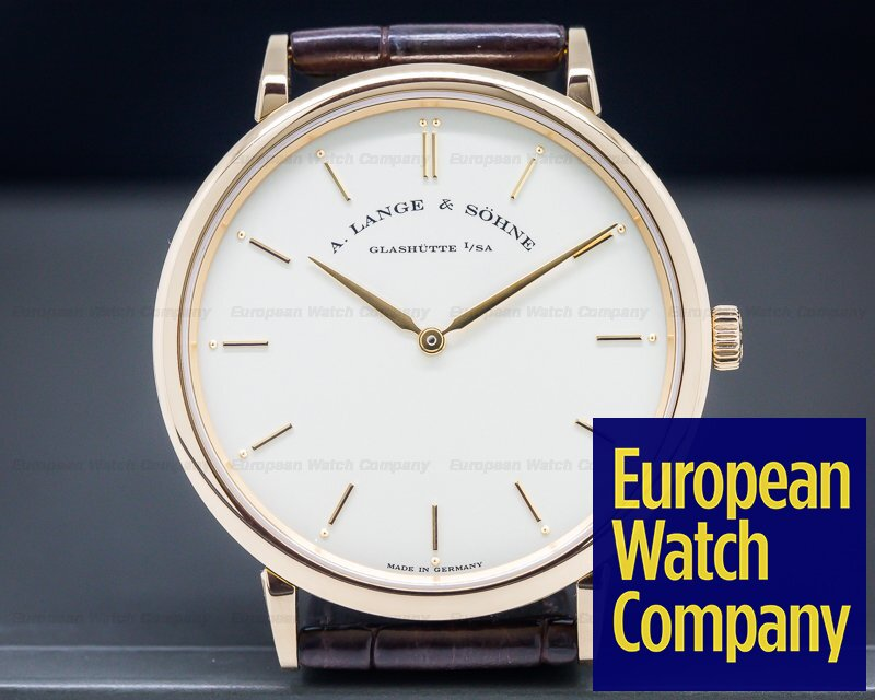 A. Lange and Sohne 211.032 Saxonia Thin Manual Wind 18K Rose Gold 40mm