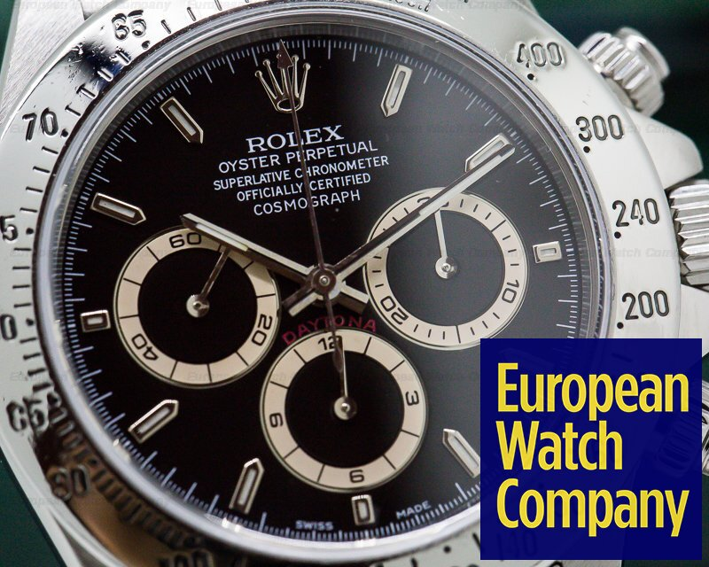 Rolex 16520 Daytona SS Black Dial Zenith Movement A Series