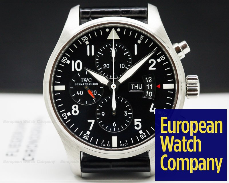IWC IW377701 Pilot Chronograph SS Black Dial 43MM