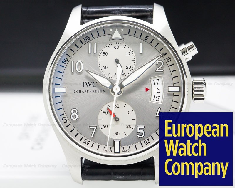 IWC IW387809 Pilot Spitfire Chronograph SS Silver Dial