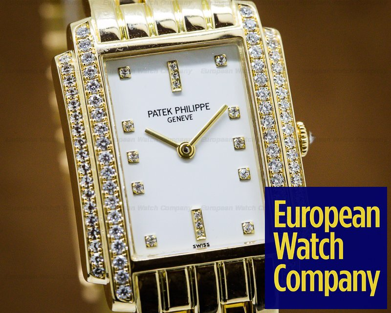 Patek Philippe 4825/101J-010 Ladies Gondolo Quartz / Diamonds 18k YG