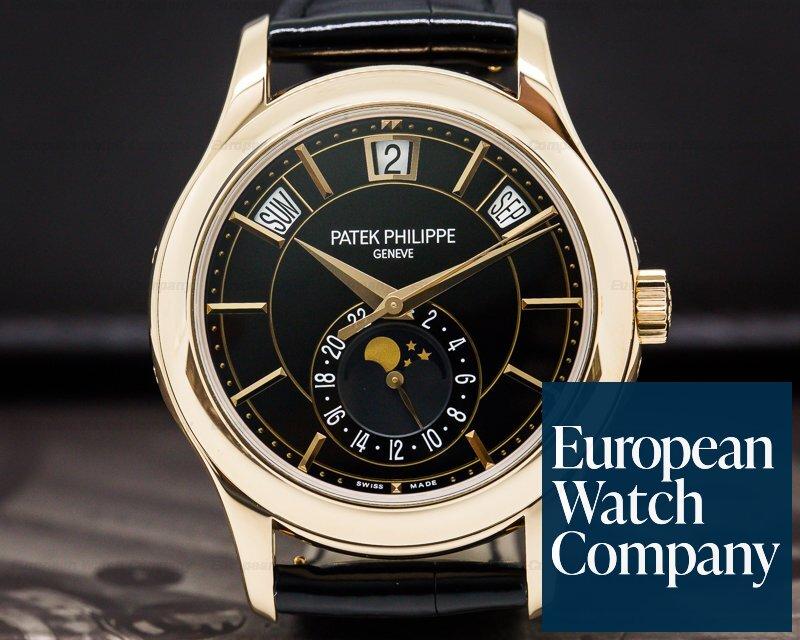 Patek Philippe 5205R-010 Annual Calendar Black Dial 18k Rose Gold