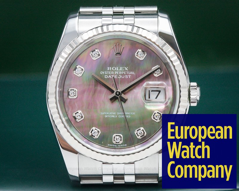Rolex 116234 Datejust Tahitian MOP Dial Jubilee SS / SS