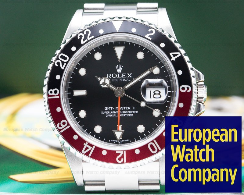 Rolex 16710T GMT Master II SS Red / Black Coke ERROR DIAL