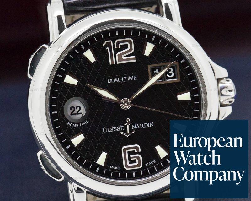 Ulysse Nardin 223-88/382 GMT +/- Big Date Black Dial SS
