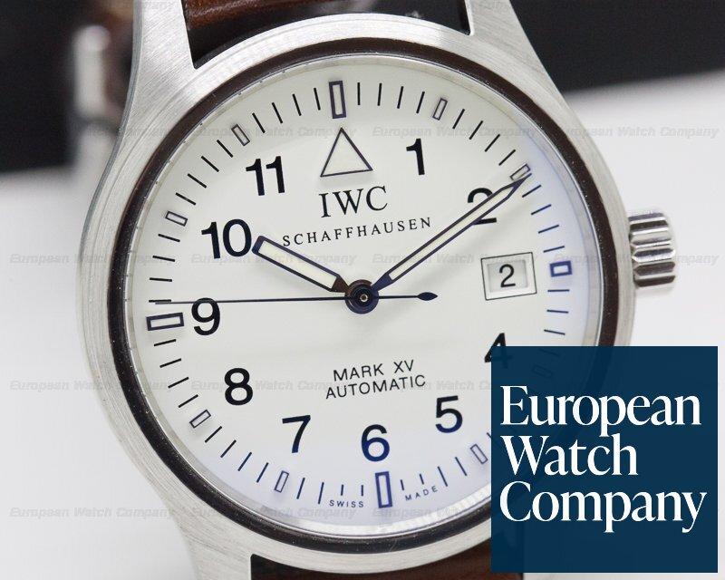 IWC 3253-09 Mark XV White Dial SS RARE