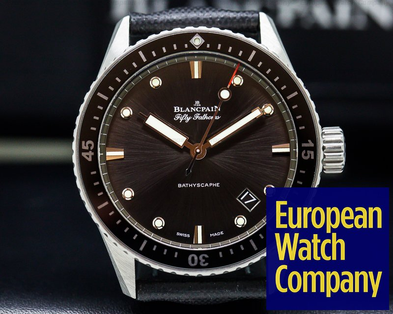 Blancpain 5000-1110-b52a Fifty Fathoms Bathyscaphe SS