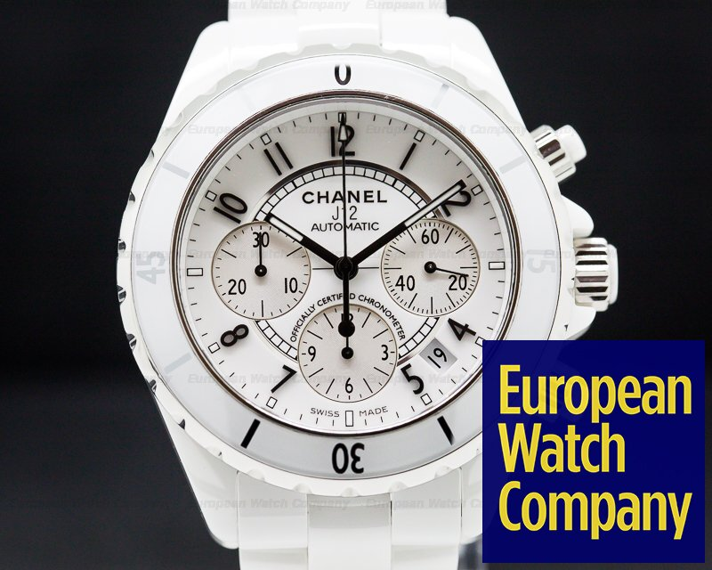 Chanel H1007 J12 Automatic Chronograph White Ceramic