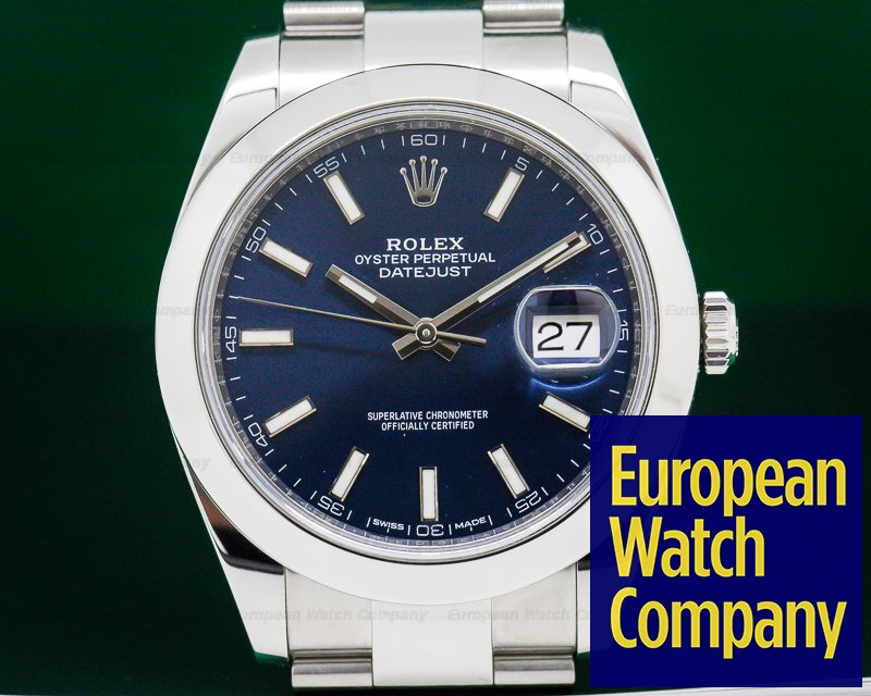 Rolex 126300 Datejust 41 Blue Stick Dial SS