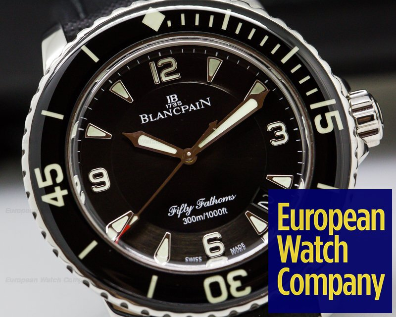 Blancpain 5015-1130-52 Fifty 50 Fathoms Black Dial SS 45MM