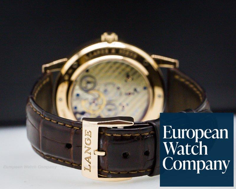 A. Lange and Sohne 116.033 Lange 1 Time Zone 18K Rose Gold Grey Dial