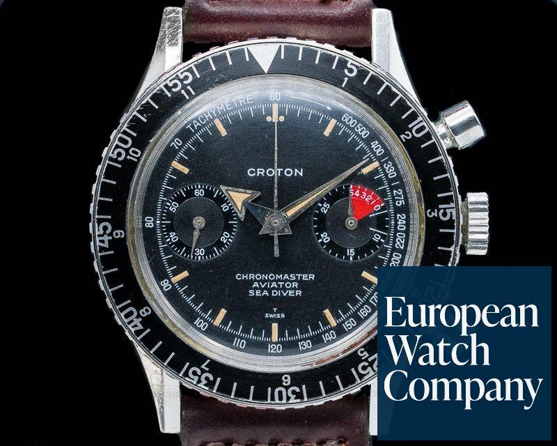Croton 9870 Vintage Chronomaster Aviator Sea Diver SS