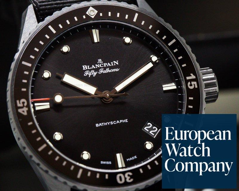 Blancpain 5000-0130-NABA Fifty Fathoms Bathyscaphe Ceramic / Nato Strap