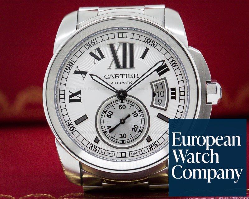 Cartier W7100015 Calibre de Cartier Automatic Silver Dial SS / SS