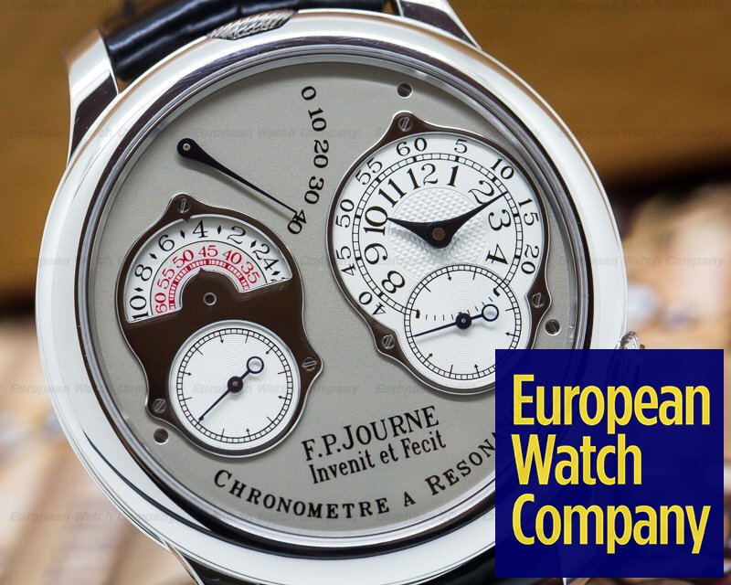 F. P. Journe Chronometre Resonance Platinum / Silver Dial 40MM Deployant
