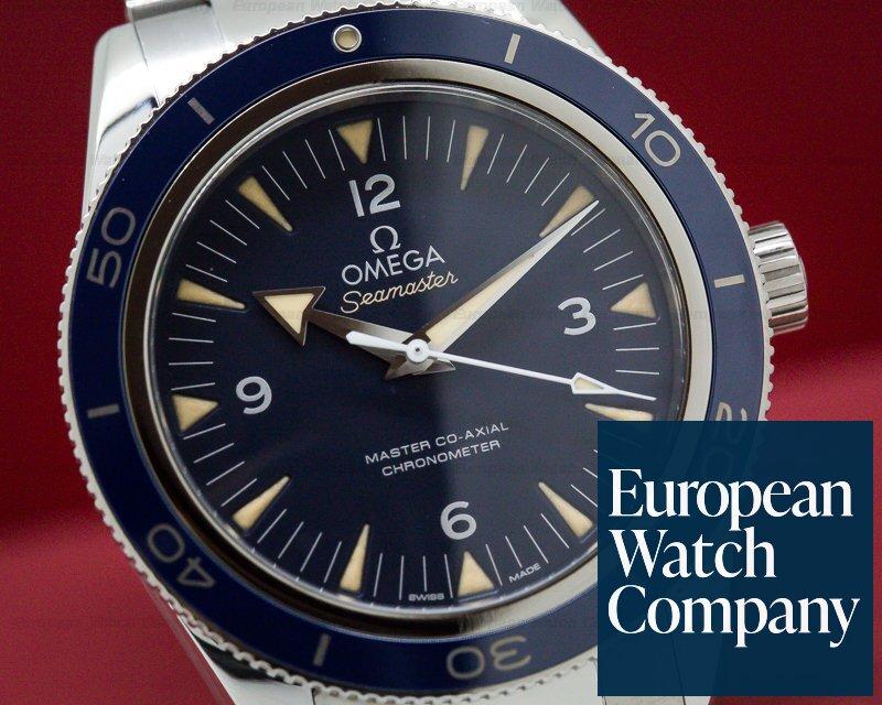 Omega 233.90.41.21.03.001 Omega SeaMaster 300M Blue Dial Blue Bezel Co-Axial Titanium 41MM