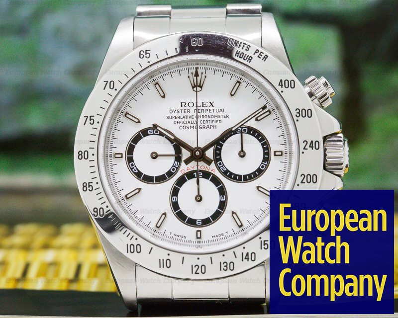 Rolex 16520 Daytona SS White Dial Zenith Movement T Series FULL SET