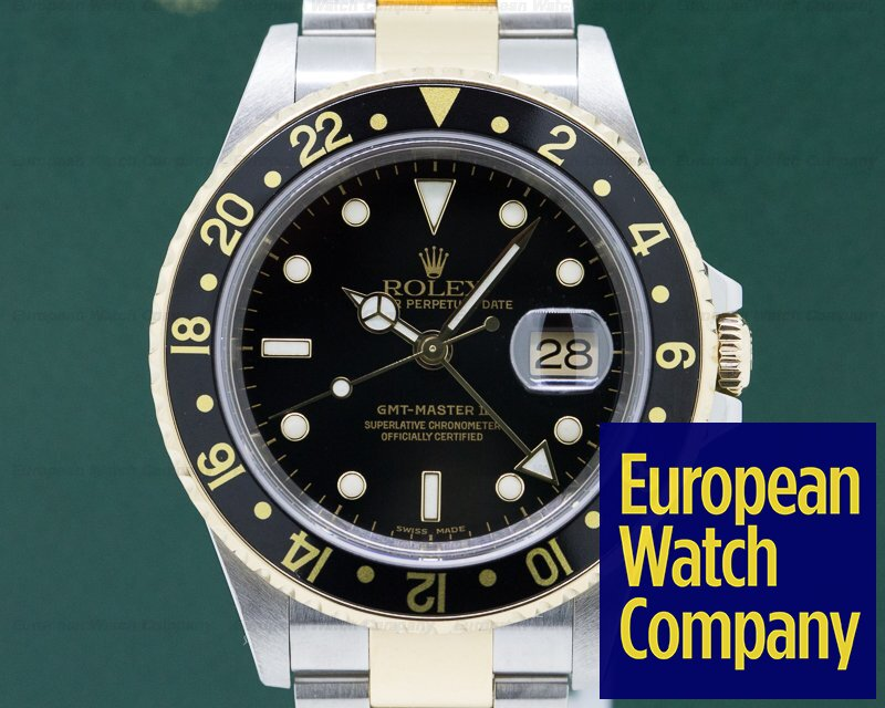 Rolex 16713T GMT Master II 18K / SS Black Dial