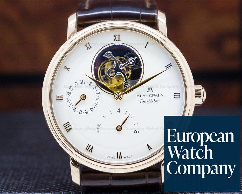 Blancpain 6025-3642-55b Villeret Tourbillon 8 Day Power Reserve 18K Rose Gold