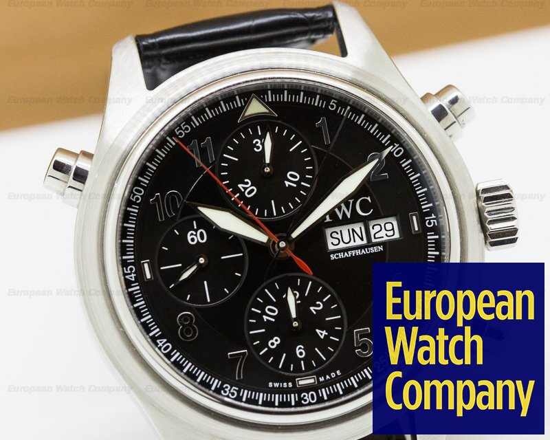 IWC IW371338 Doppel Spitfire Black Dial SS