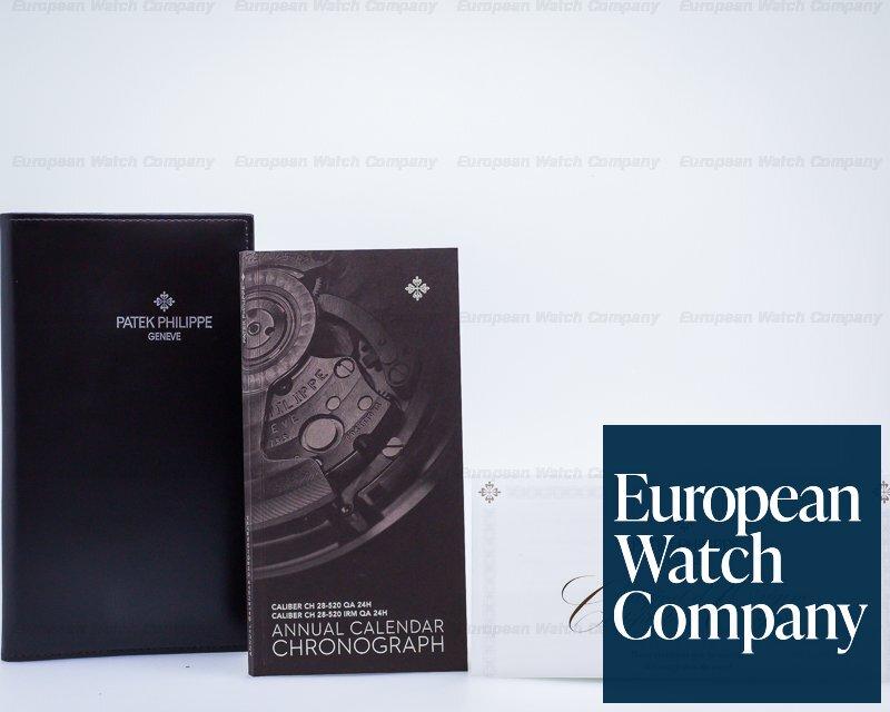 Patek Philippe 5905P-001 Chronograph Annual Calendar Platinum / Blue Dial DEPLOYANT