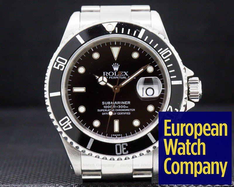 Rolex 16610 Submariner SS Black Dial