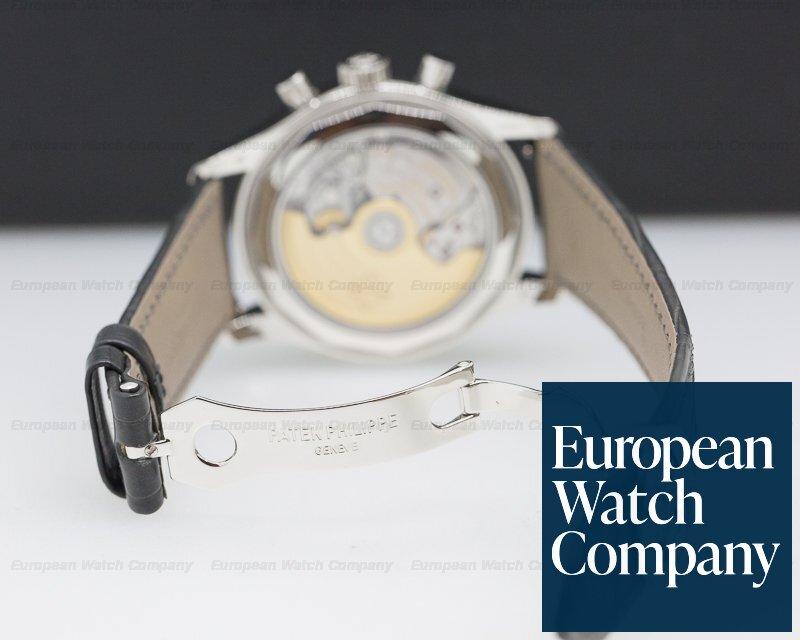 Patek Philippe 5960P-015 Annual Calendar Chronograph Platinum Blue Dial