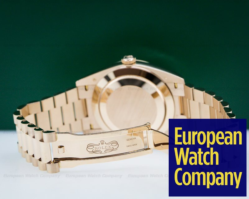Rolex 228235 Day Date Presidential Everose Gold Green Dial 40MM