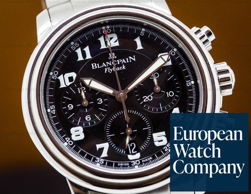 Blancpain 2185F-1130-63B Leman Flyback Chronograph Black Dial SS/SS
