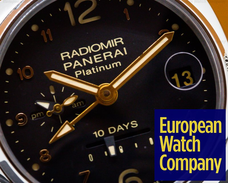 Panerai PAM00495 Radiomir 10 Days GMT Automatic Platino 45MM LIMITED