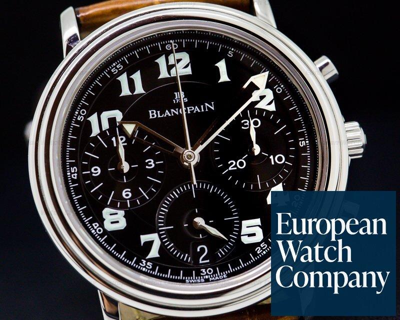 Blancpain 1185F-1130M-63 1185F Leman Flyback SS Black Dial / 33MM