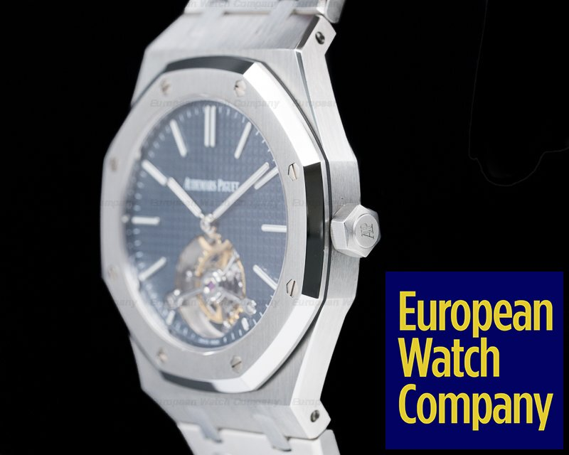Audemars Piguet 26510ST.OO.1220ST.01 Royal Oak Tourbillon Extra Thin SS Blue Dial EXTREMELY LIMITED