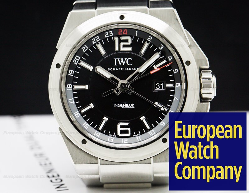 IWC IW324402 IW324402 Ingenieur Dual Time Black Dial SS