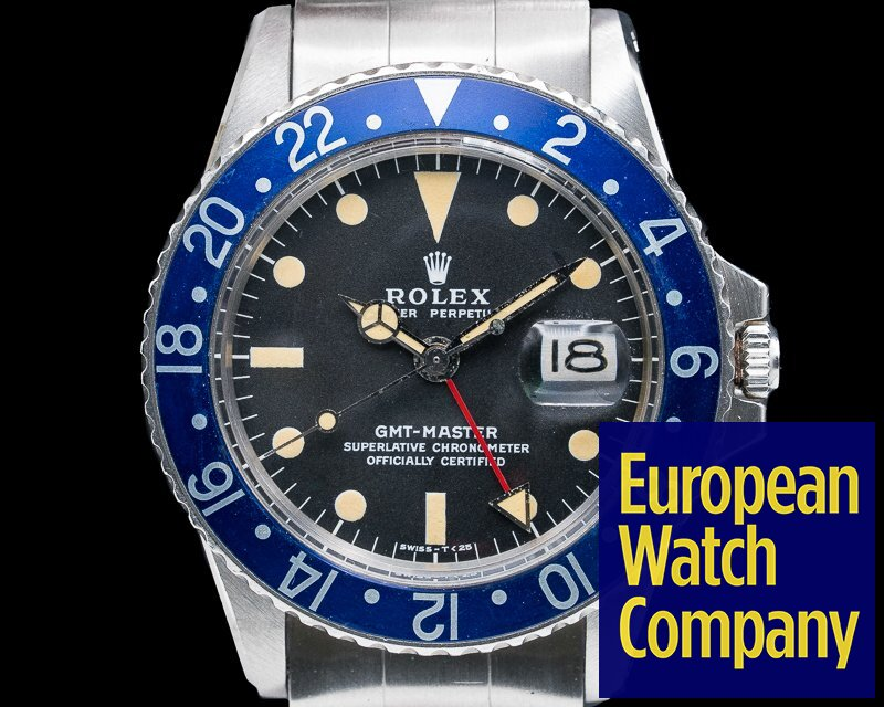 """Rolex 1675 GMT Master """"Blueberry"""" MKII SS FULL SET / Punched Papers"""